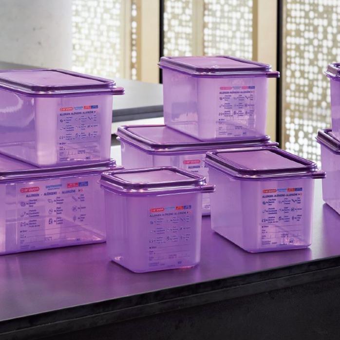 contenitori gastronomici viola araven