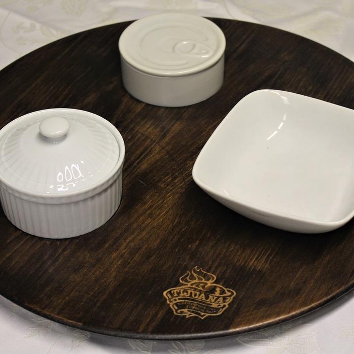 Piatto legno personalizzato