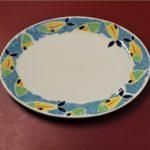 piatto ovale steelite decoro pesce